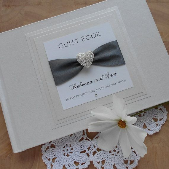 Wedding Guest Book Luxury Guestbook Bridal By Rednell 34 00