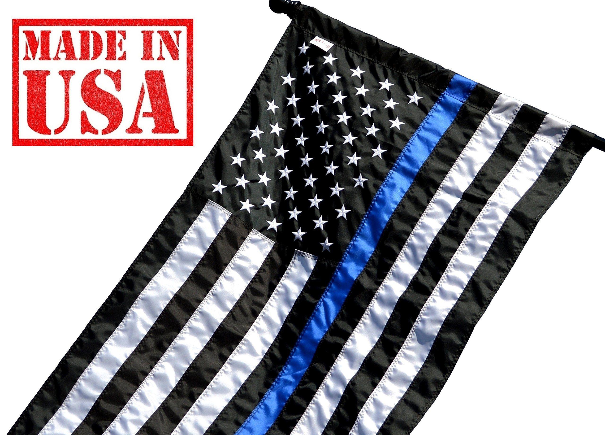 c4c37c504c4d US Flag Factory 2.5 x4  Thin Blue Line American Flag (Pole Sleeve ...