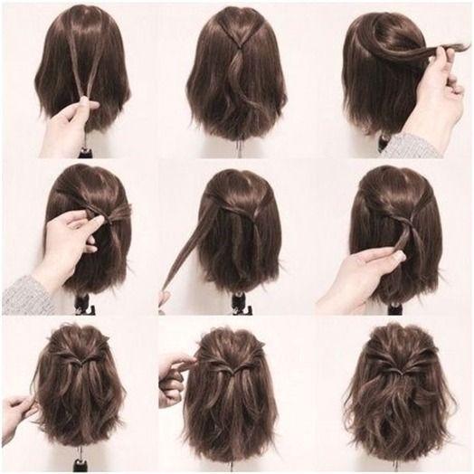 Die Besten 25 Hochzeit Ideen Auf Pinterest Mittlere Lange 17 Schicke Geflochtene Frisuren Short Hair Styles Easy Braids For Short Hair Medium Hair Styles