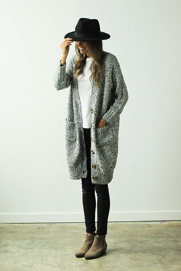 20 Style Tips On How To Wear Long Cardigans This Winter | Short ...