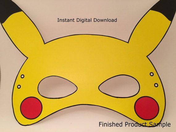 photo relating to Pokemon Mask Printable named Pokemon Transfer Mask Minimize History/Printable Pikachu Mask through