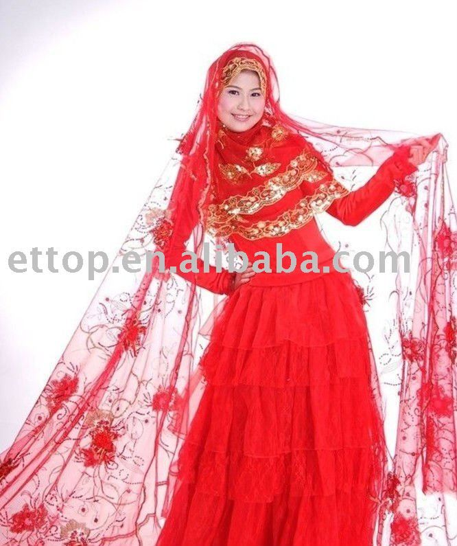 Muslim Red Wedding Dresses Ideas 666x795