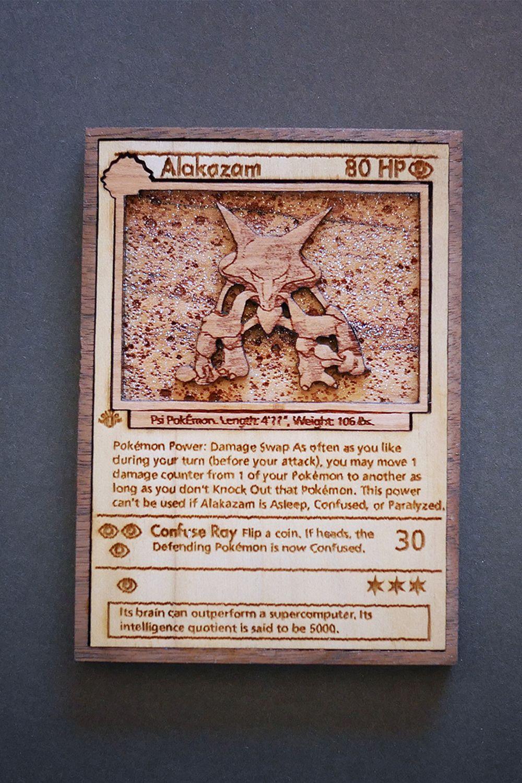 Custom wooden pokemon cards pokemon card memes pokemon