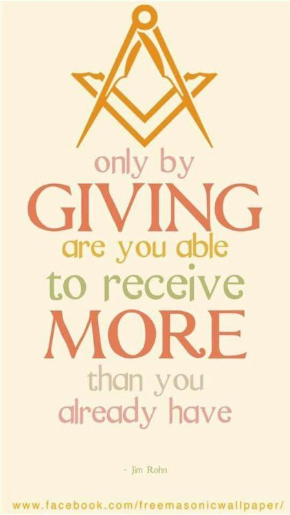 Only by giving are you able to receive more than you ...