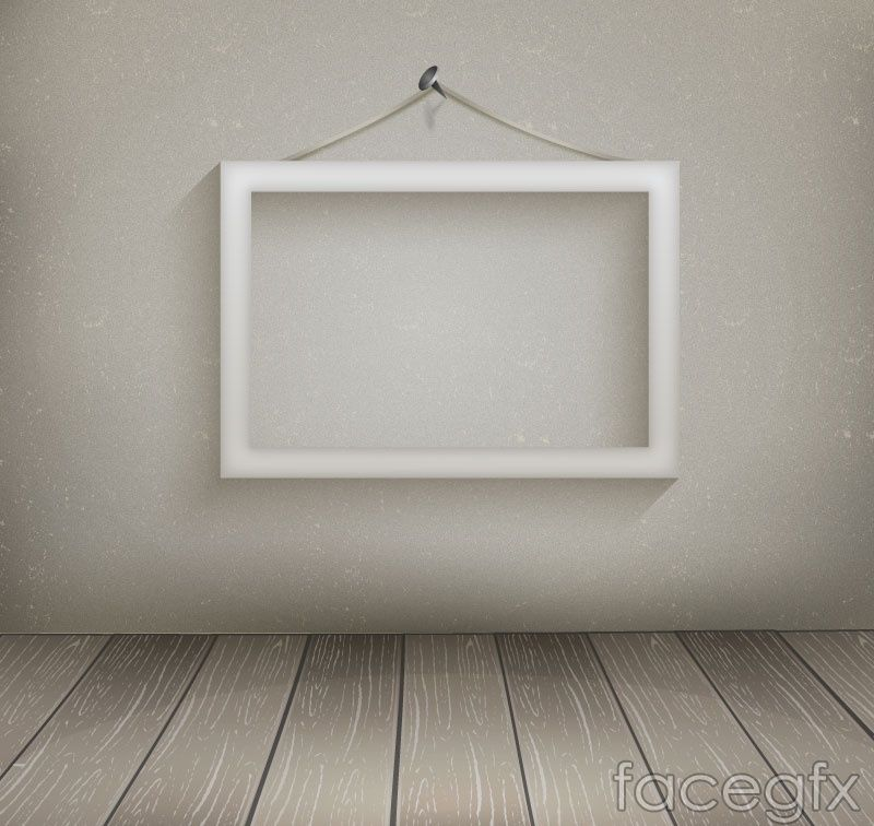 White hanging wooden picture frame vector | Free Vectors | Pinterest ...