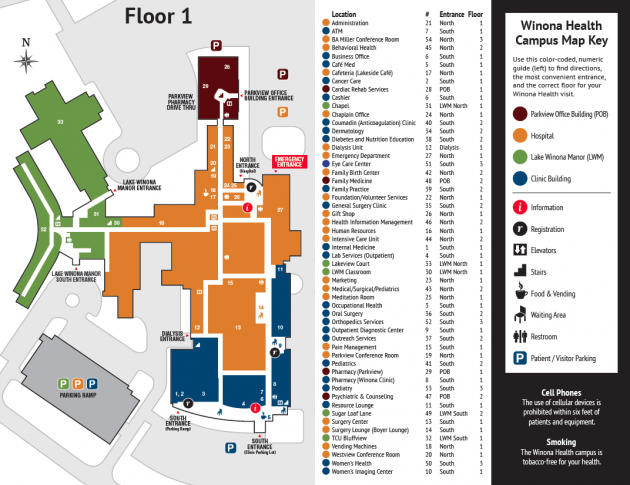 Winona Health Floor Map Brochure Pinterest Signage