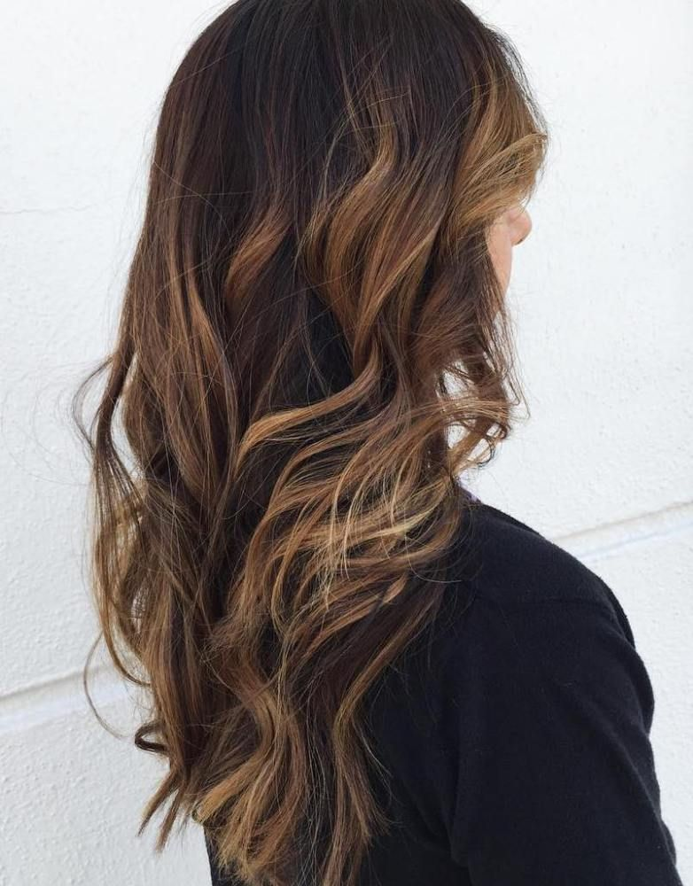 60 Hairstyles Featuring Dark Brown Hair With Highlights Pinterest