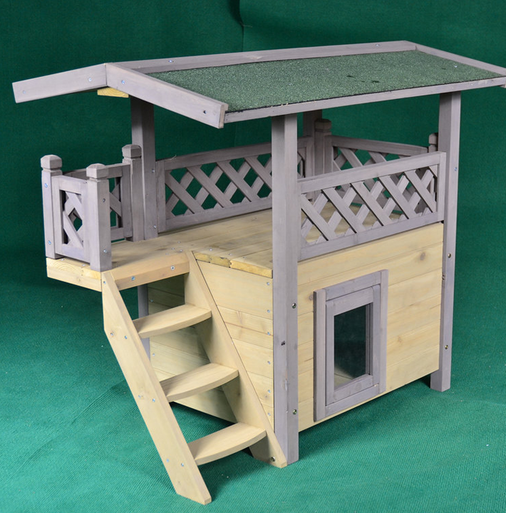 Large Indoor Dog Kennel,Wooden Dog House With Stairs - Buy Large ...