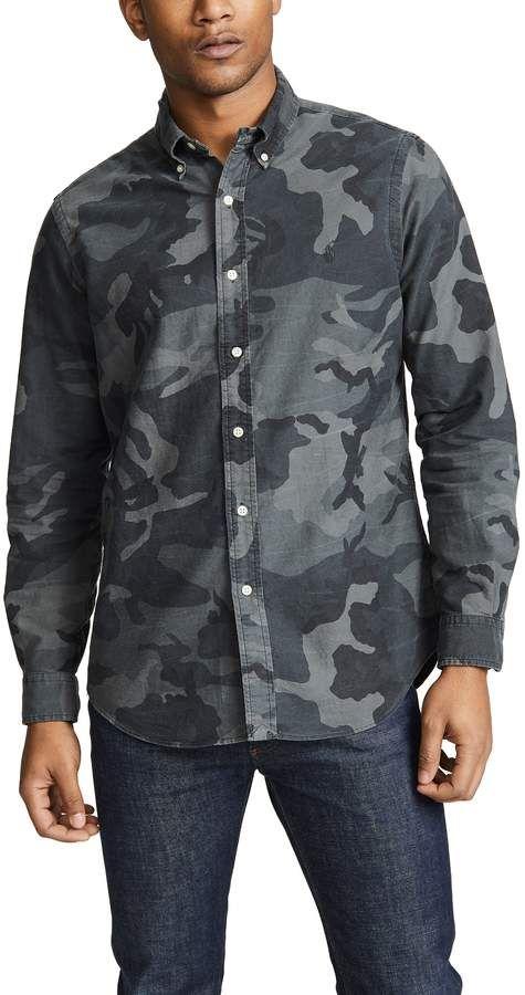 0be60bd1 Polo Ralph Lauren Classic Fit Camo Oxford Shirt | Stylist | Shirts ...