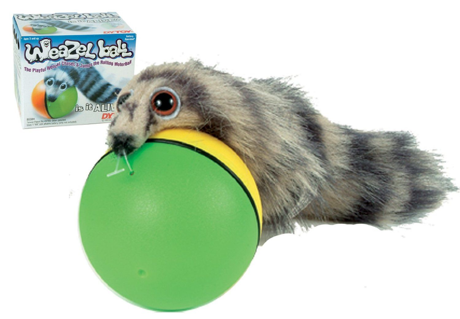 Amazon.com: Weazel Ball - The Weasel Rolls with Ball: Toys & Games ... | Dog Toys That Move