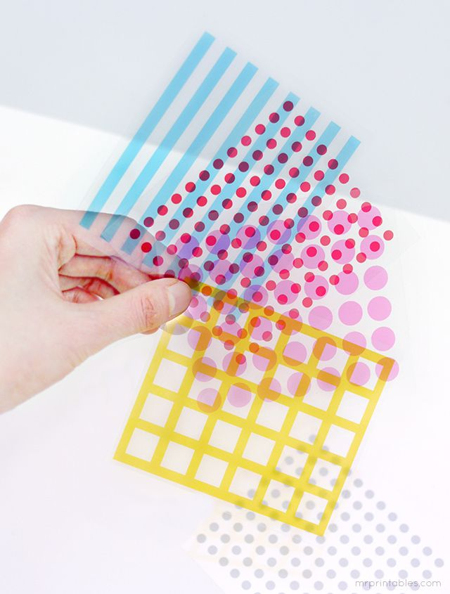 graphic about Printable Transparency Paper known as Enjoy with styles colour overlays - printable playing cards for