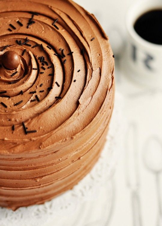 6-Layer Rich Malted-Chocolate Toasted Marshmallow Cake