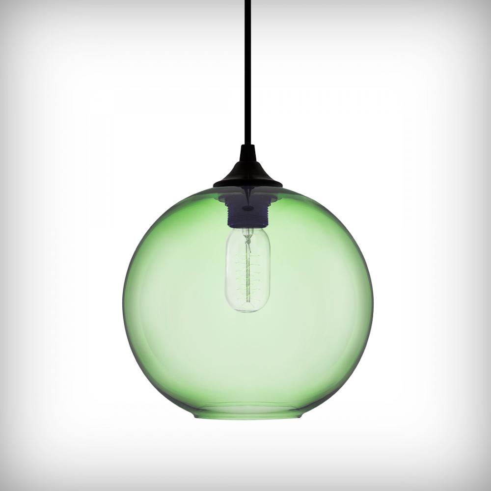 Industrial Pendant Light Green: Edison Industrial Solitaire Modern Pendant Light