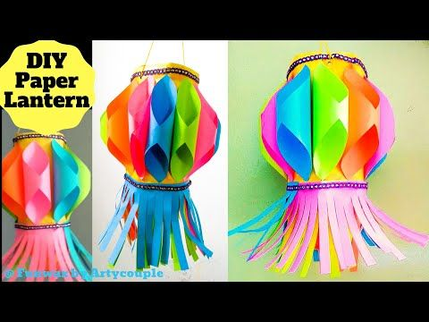 DIY Diwali paper lantern | Akash Kandil making | Diwali decoration ideas | Paper lantern tutorial