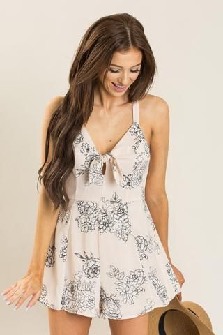 ba9dca11145f Rory Light Pink Floral Romper by LUSH  49 (Shop Morning Lavender ...