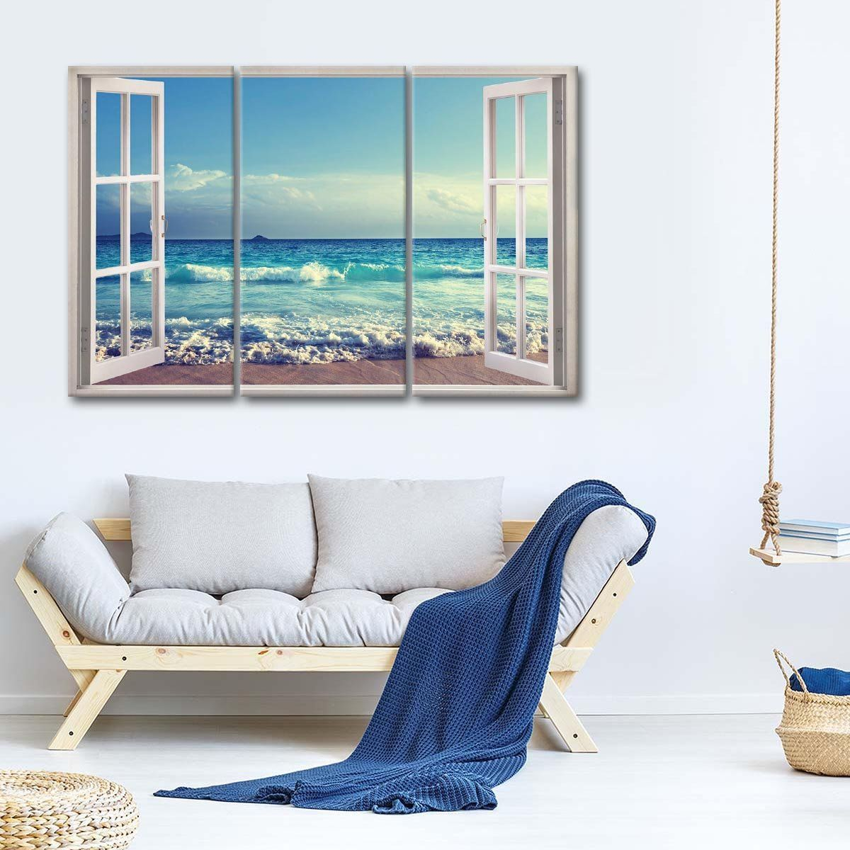 Love The Ocean Breeze Multi Panel Canvas Wall Art In 2020 Canvas Wall Art Beach Wall Art Multi Panel Canvas
