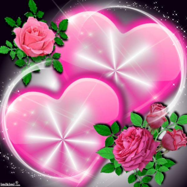 Two hearts serca pinterest pink roses and patterns - Pink roses and hearts wallpaper ...