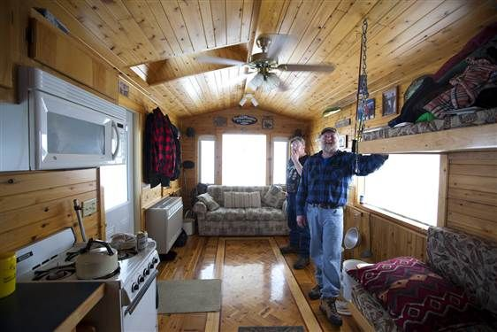 ice fishing goes upscale in mille lacs, minn. | ice fishing, fish