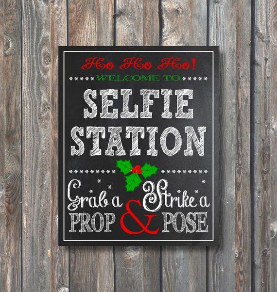 Printable Christmas Selfie Station Christmas Photo Booth