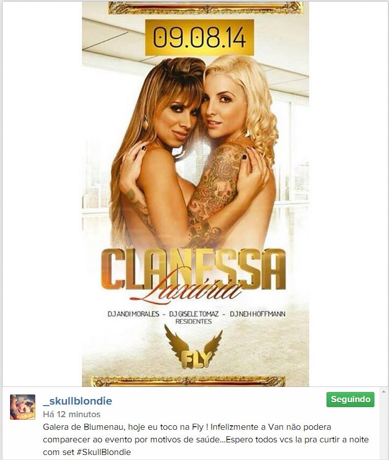 RT IG Clara Galera de Blumenau, hoje eu toco na Fly ! Infelizmente a Van não podera comparecer http://instagram.com/p/rfGIvFun-A/ pic.twitter.com/dArC5KQfWh