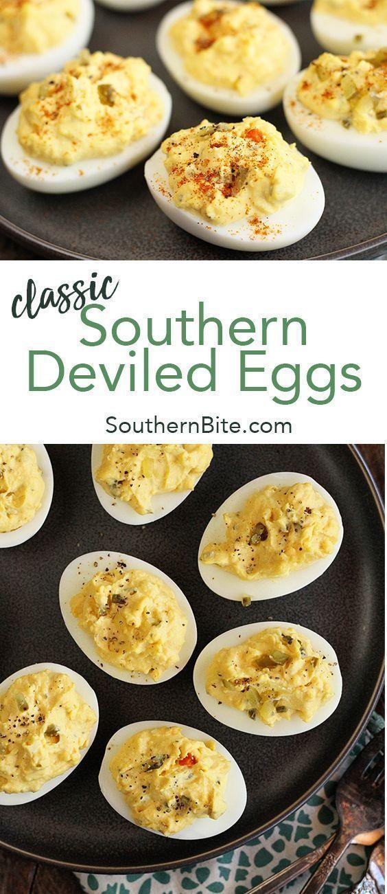 Classic Southern Deviled Eggs #deviledeggs