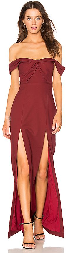 x REVOLVE Corah Gown in Burgundy. - size S (also in M,XS,XXS) NBD