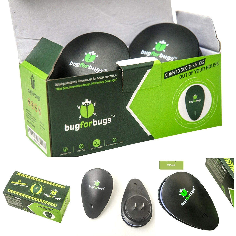 Ultrasonic Pest Repeller 2 Pack Improved Electronic Pest