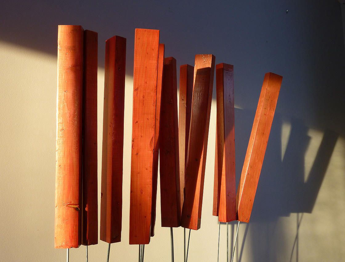 JR Jonathan Roy artiste peinture sculpture : Les sémaphores, 2014