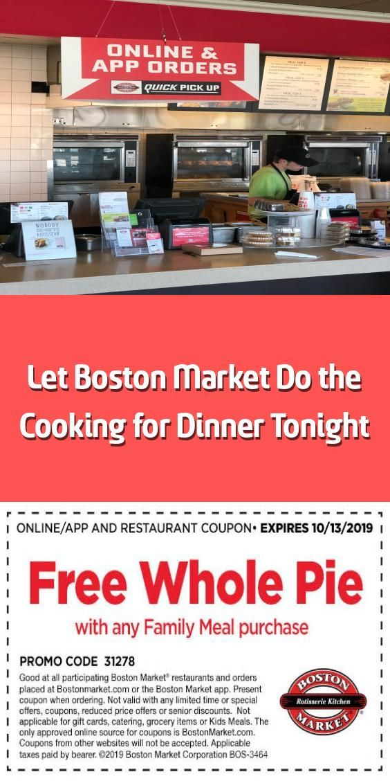 Let Boston Market Do the Cooking for Dinner Tonight
