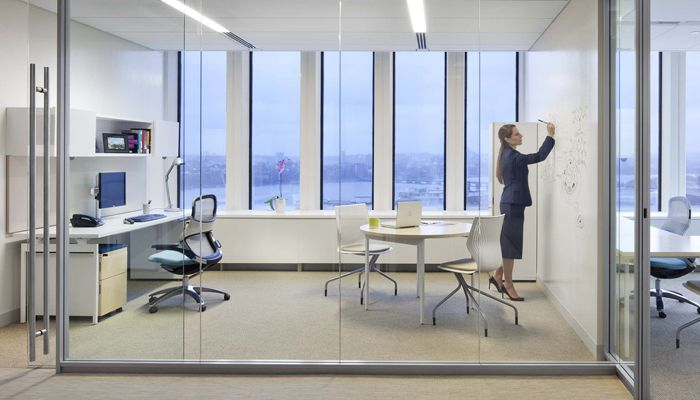 Knoll antenna private office knoll sets the standard for for Office space design companies