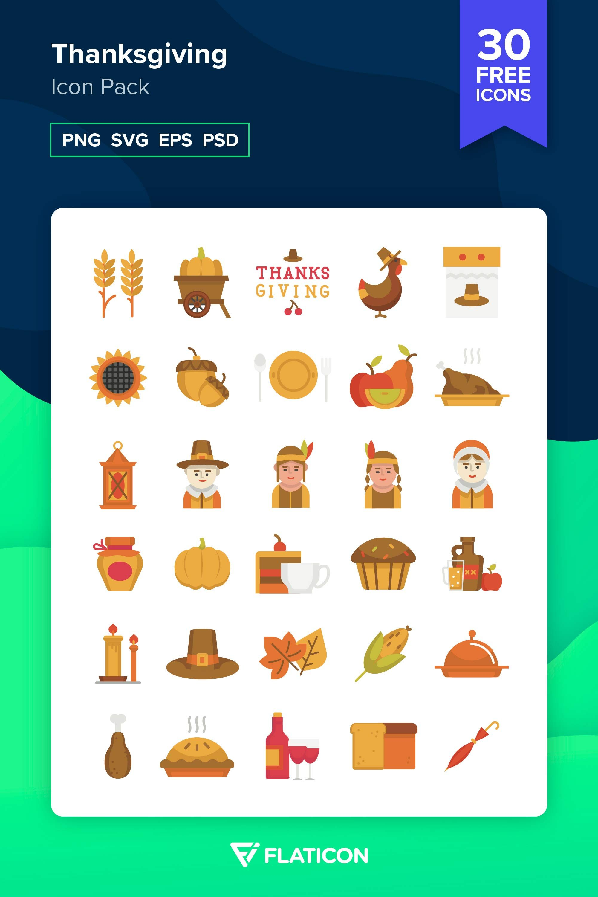 30 free vector icons of Thanksgiving designed by Freepik