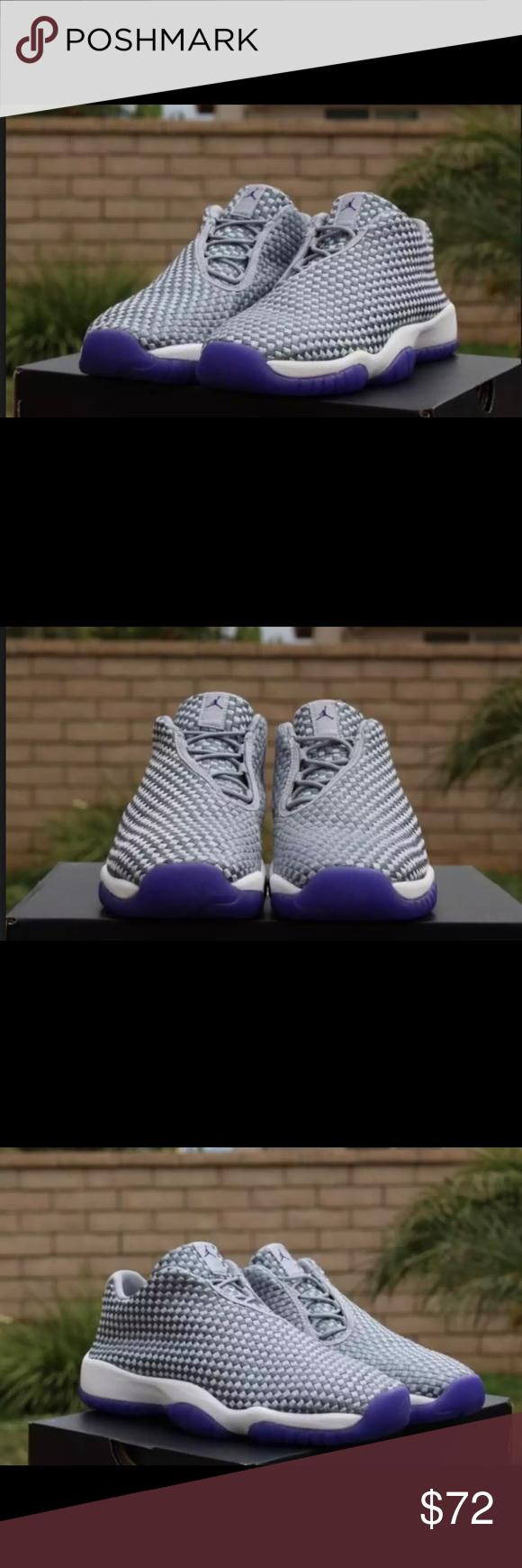 5206982c09c7 Air Jordan Future Low Girls Shoes Wolf Grey Purple Brand New but no box  Ships same