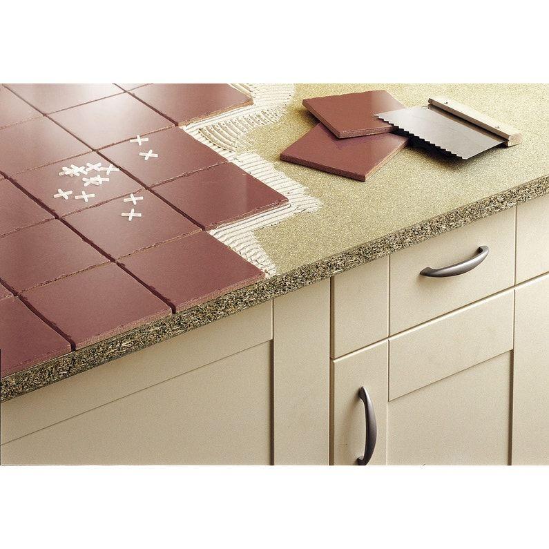 Plan De Travail Agglomere A Carreler Mat L 185 X P 63 Cm Ep 28 Mm In 2020 Kitchen Remodel Home Kitchens Kitchen