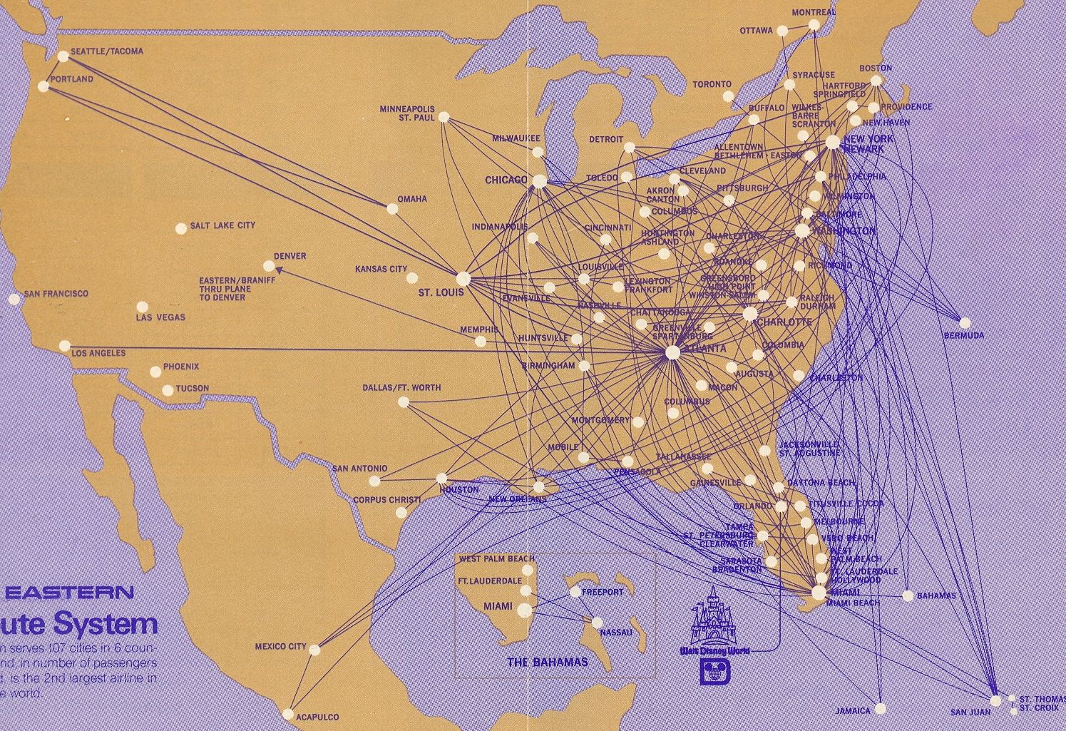 EA090672 1972 (With images) Route map, Airline logo