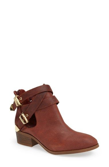 Seychelles 'Scoundrel' Distressed Leather Bootie (Women) available at #Nordstrom black or toupe