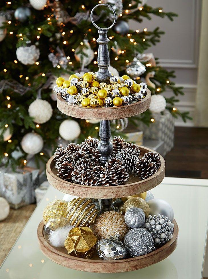 Winter Wonderland Christmas Platter Tiered Tray Decor Wooden Platters