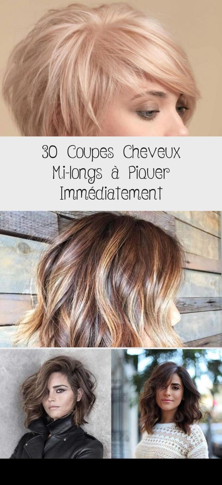 30 Coupes Cheveux Mi Longs A Piquer Immediatement Cheveux Blog Corinne Larissa
