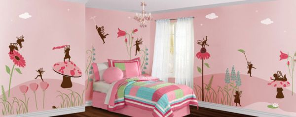 Perfect Wall Mural Inspiration And Ideas For Little Girlsu0027 Rooms