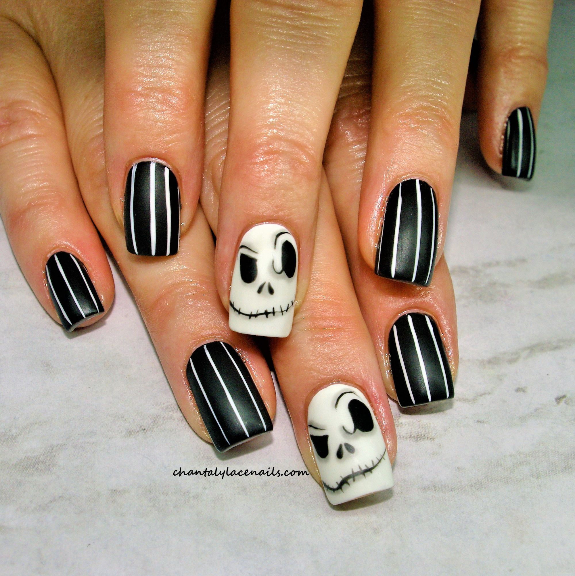 Halloween Nails 2020 Jack Skellington Pin on My Saves