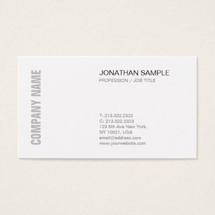 Creative Sleek Design Chic Modern Professional Business Card