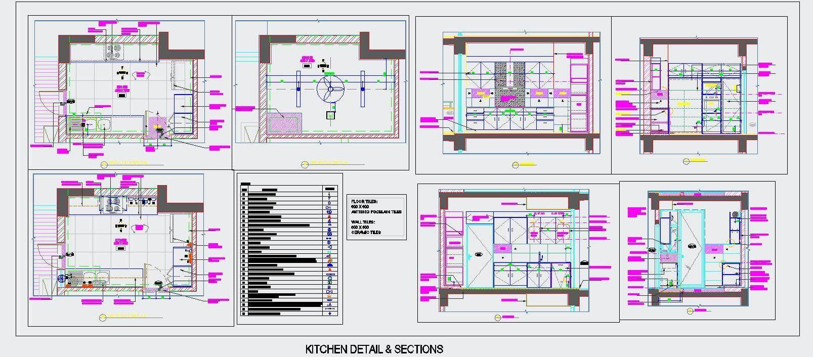 Kitchen Cabinets Design Autocad