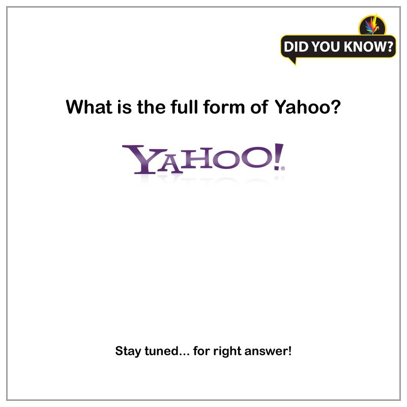 """Most of the people know that """"Yahoo""""! is a web portal and an ..."""