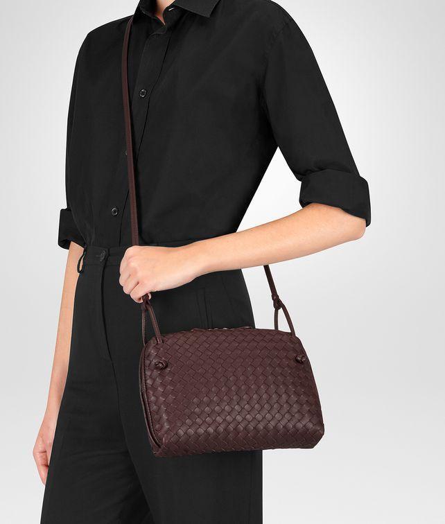 ea77759c14 BOTTEGA VENETA DARK BAROLO INTRECCIATO NAPPA NODINI BAG Crossbody bag Woman  fp