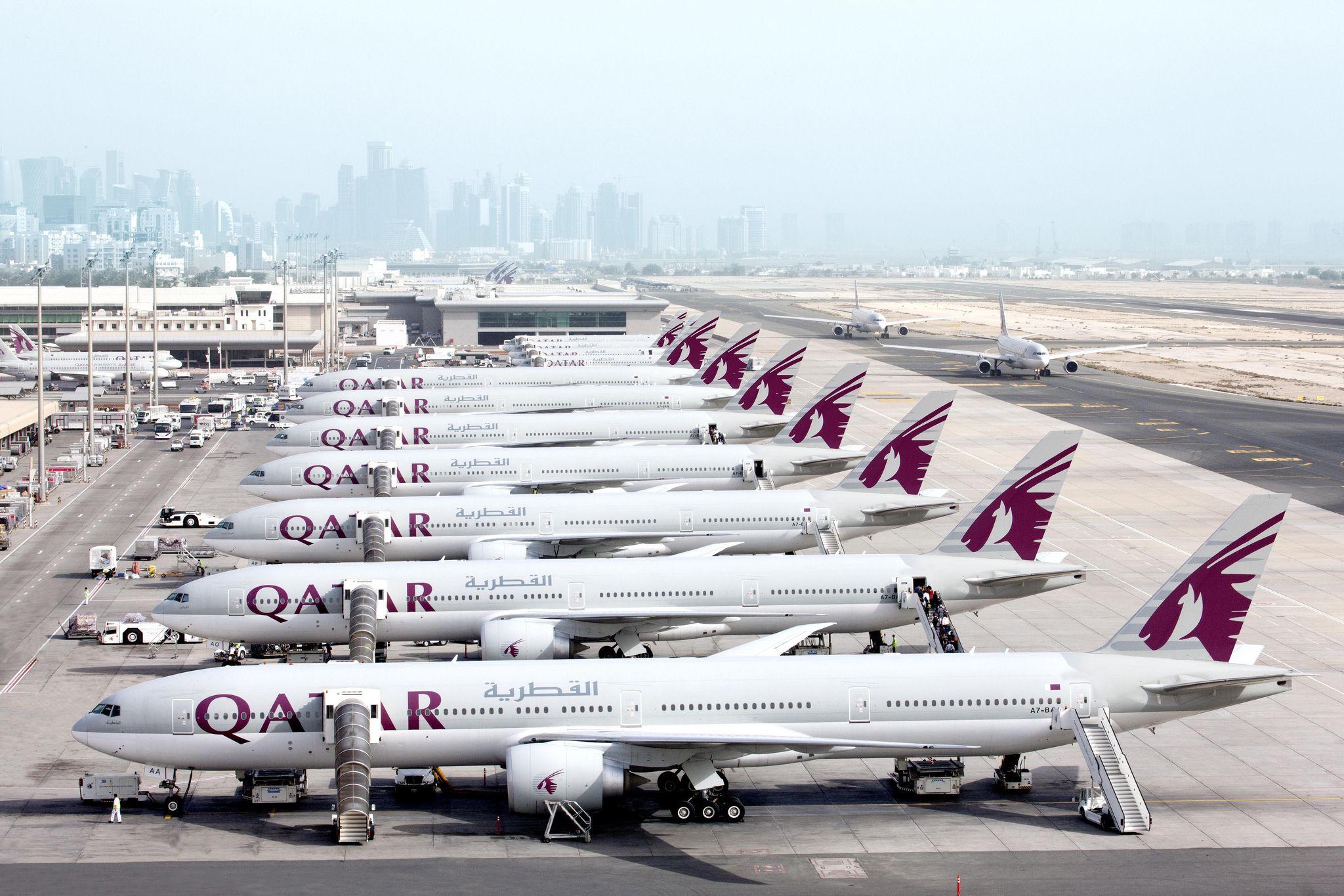 Doha Las Vegas Cu Qatar Airways Din 8 Ianuarie 2018 Qatar Airways Qatar Commercial Aircraft