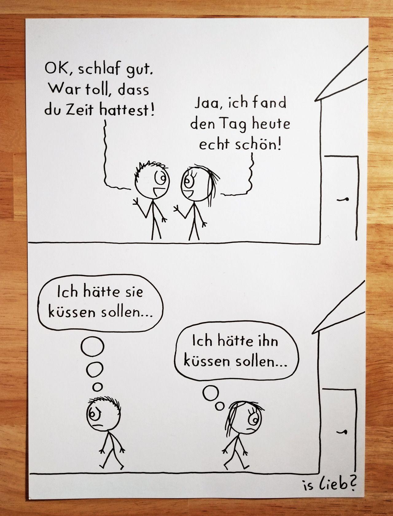 Hätte…PS: Hier ist ein Comic-Makling-of, falls ihr mal schauen wollt, wie diese Sa... - #Comic #islieb #kuss #küssen #liebe #zeichnung