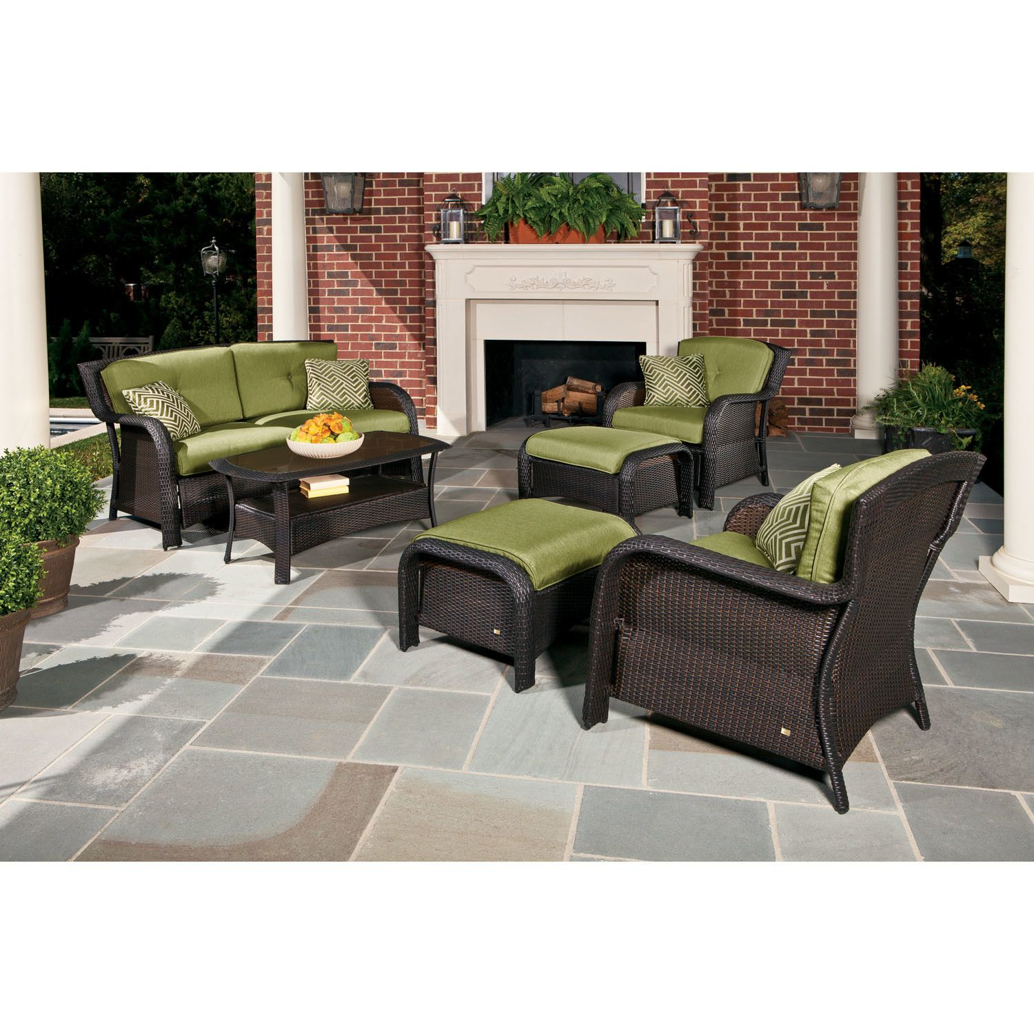 Hanover Outdoor Strathmere 6 Piece Seating Group with Cushions