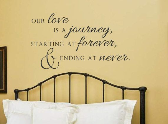 Vinyl Wall Decal our love is a journey Vinyl wall by landbgraphics ...