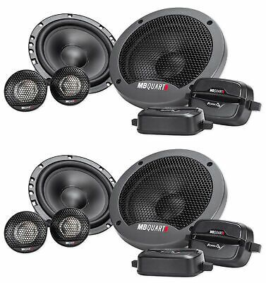 (2) Pairs MB QUART FSB216 6.5 280 Watt Car Audio Component Speakers