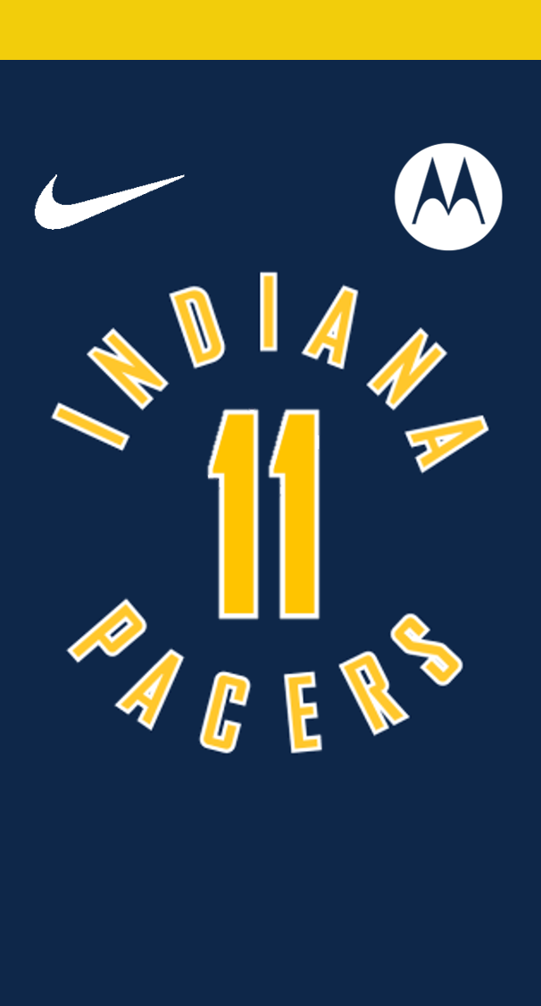 Pacers Jersey Phone Wallpaper Indiana Pacers Jersey Indiana Pacers Jersey