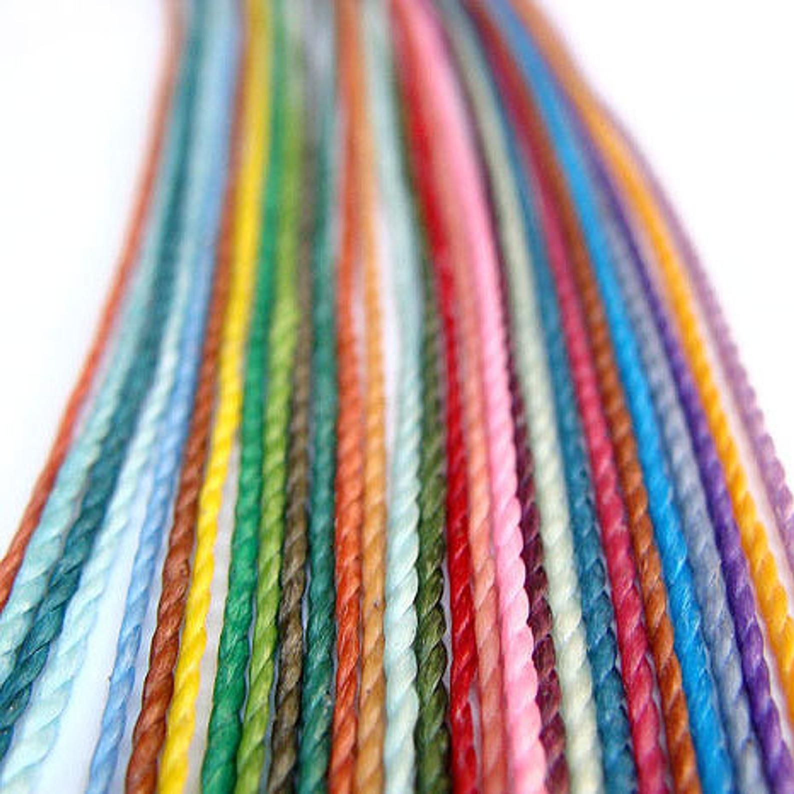 16 rolls of Linhasita waxed macrame cord for friendship bracelets and jewelry